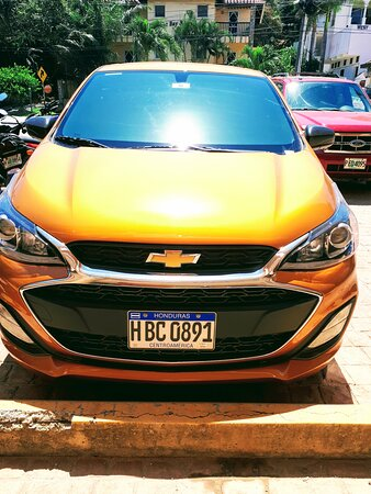 Chevy Spark rental. seats 4 with one piece of luggage