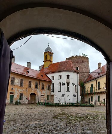 Valpovo, Croatia: Gothic chapel and a 15th C medieval tower and keep.