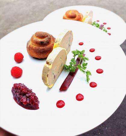 foie gras et framboise
