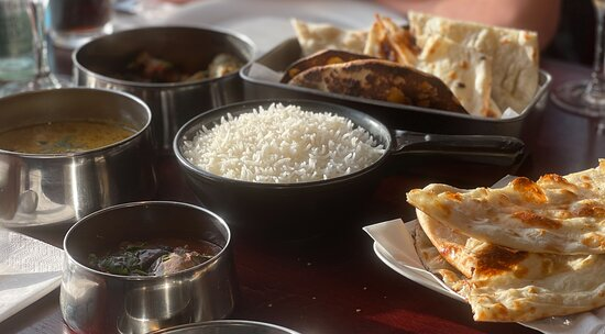 The sumptuous Indian meal!