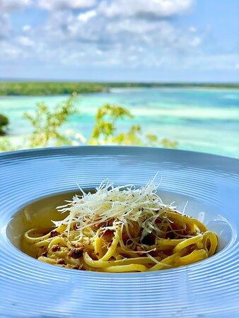 Spaghetti with Pumpkin Cream & Parmesan Cheese