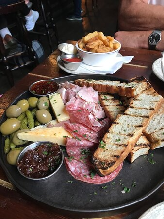 Sharing platter really nice especially with an added portion of chips.