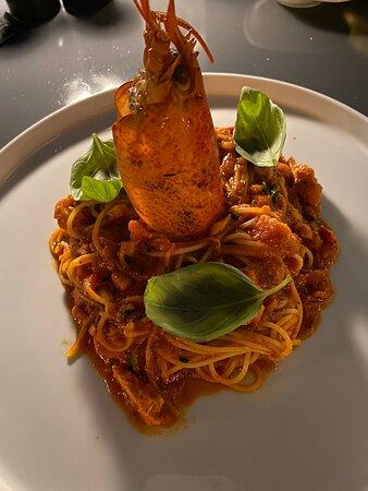 Lobster spaghetti - delicious!