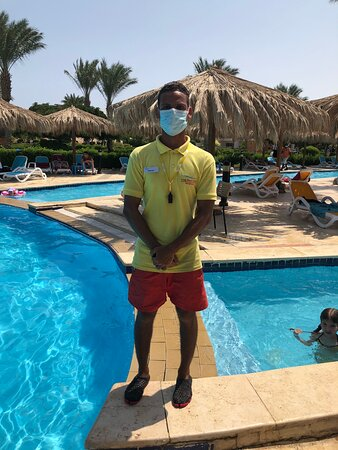 Good evening, I would like to thank Mr. Ahmed Saad, the main swimming pool rescue officer at the Long Beach Resort Hurghada Hotel, for his good manners, his continuous cooperation with guests, his special attention to all children, and his continuous support during his work... Thank you very much.