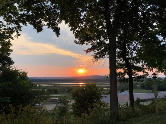 It just doesn't get any better than a sunset over the Mississippi River.