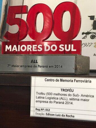 Centro de Memória Ferroviária, junto à Estação Ferroviária da Lapa. A ALL, em 2014, foi comprada pela RUMO (do grupo COSAN).