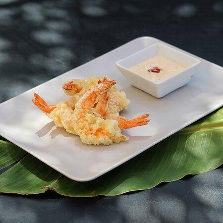 Prawns tempura