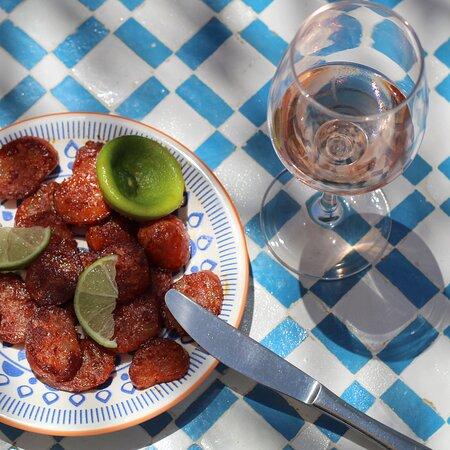 Saute chorizo with fresh lime