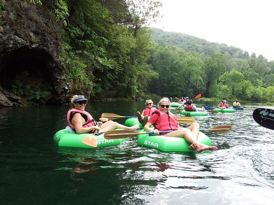 My family having a great time on the Guided Extreme River Tube Trip Watauga River