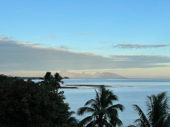 Moorea from the 4th floor.