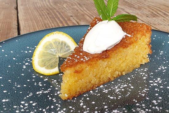 Sicilian lemon and almond cake with Creme Fraiche
