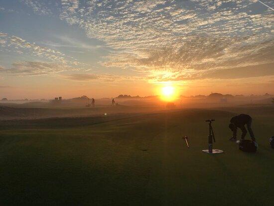 Beautiful sunrise over the links