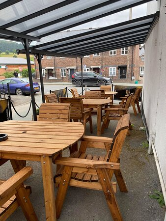 Sheltered seating area perfect for dining or just relaxing with your favourite tiple