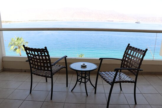 Royal Suite balcony on the 6th floor at Aria Hotel Eilat