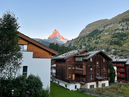 View of Matterhorn from the room and balcony