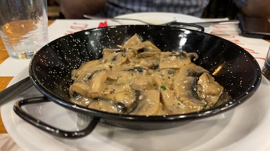 Mushrooms with garlic. I could eat a whole plate on my own.