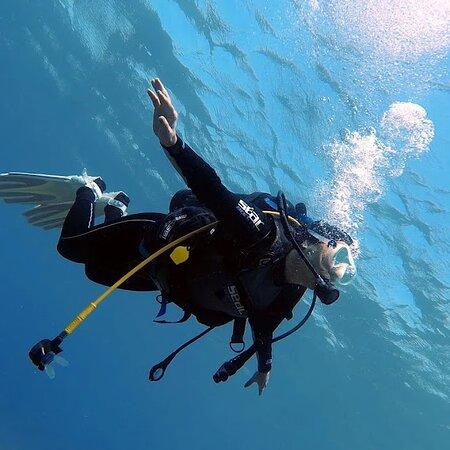 wafa hijazi with  Aqaba Pro Divers