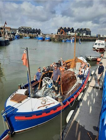 The vintage lifeboat that took us on our amazing trip