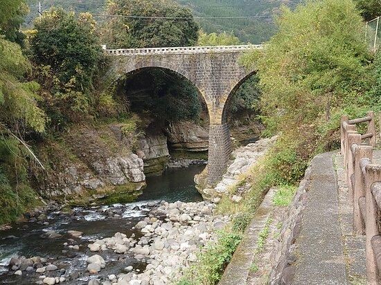 展望所から見た荒瀬橋