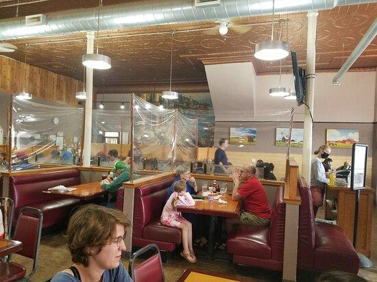 Interior.  Love the copper ceiling!