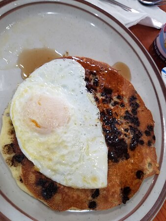 pancakes and egg