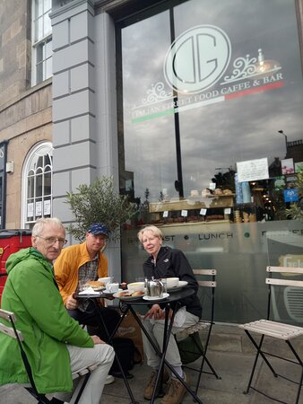 Steve, Sandra and Ronald Bell having a wonderful lunch at Di Giorgio.