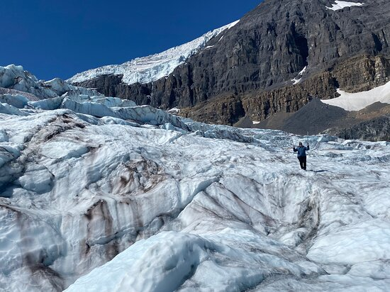 Posing on the Athabasca Glacier