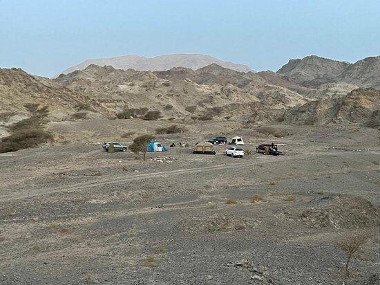 Wadi camping.