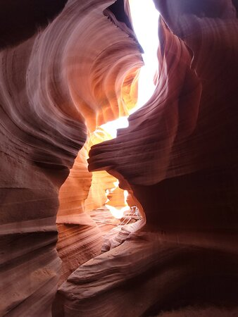 loved how the sun bounced off the rock angles within the canyon