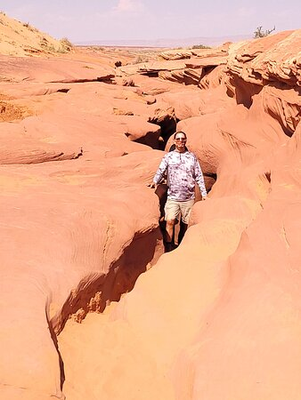 Exit out of Lower Antelope Canyon.  Hard to believe that was the crevice we were walking under
