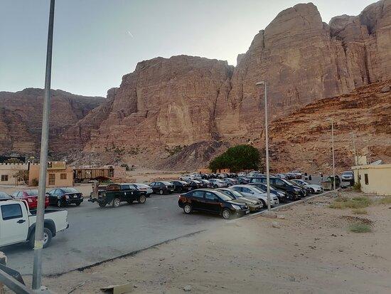 Wadi Rum parking meeting point