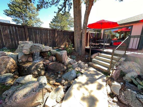 Lobby patio - waterfall