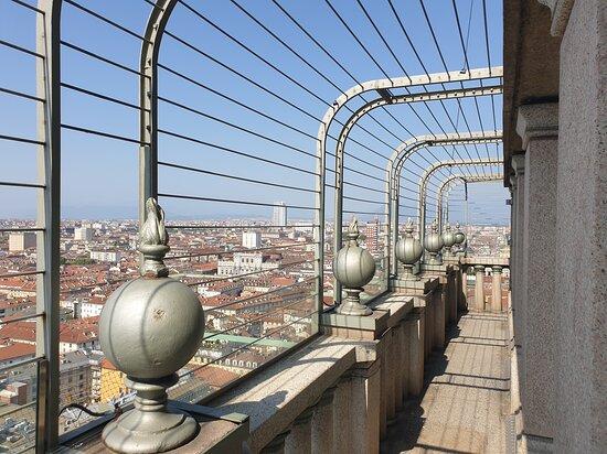 Torino - Mole Antonelliana, terrazzo vista vs Pzza Carlo Alberto (To)