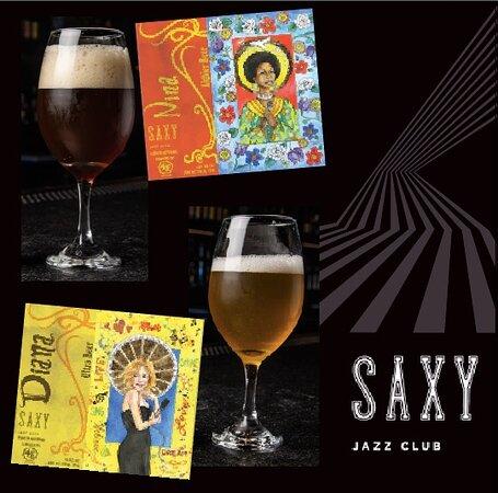 Disfruta de la Cerveza que fue creada especialmente para SAXY. Nina y Diana, de la Cervecería 4 Elementos