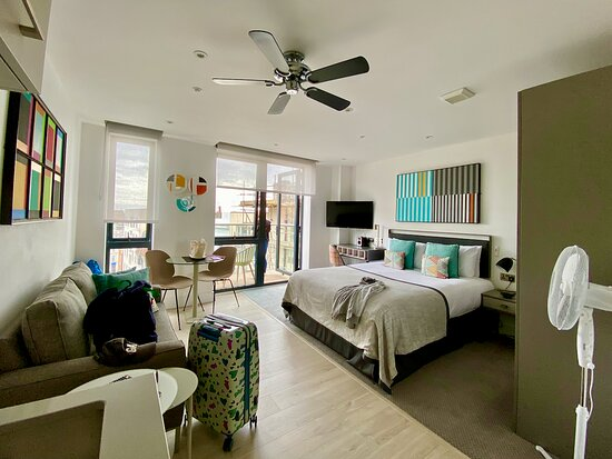 Notice the need for a ceiling fan AND a pedestal fan?