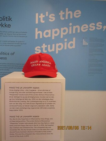This exhibit shows the results of a survey of people in the UK.  Christmas was the happiest day in 2016.  The least happy day was when they found out that Trump won the 2016 election in the U.S. .
