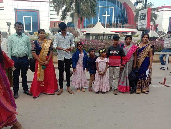 Hyderabad, India: This is the Calvary temple visiting my family and Jesus Christ living in this area and Jesus is my family God.....shalom