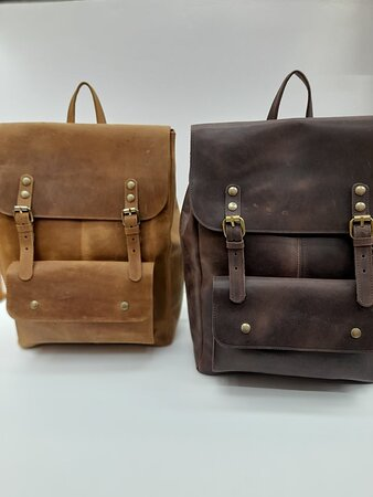 Leather Backpacks in many styles and colours