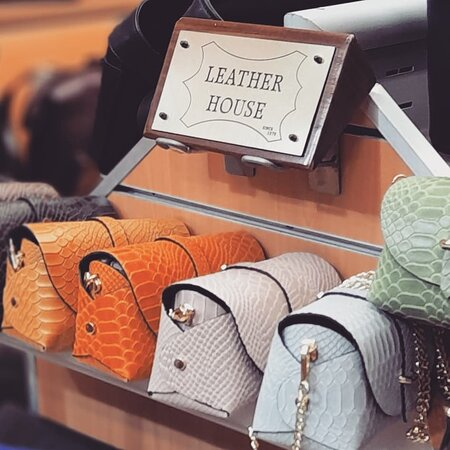 Leather women's fashion evening bags and more