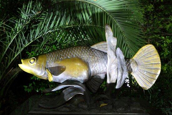 Памятник рыбке Гамбузии