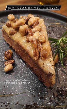 Cheesecake de Chocolate e Manteiga de Amendoim