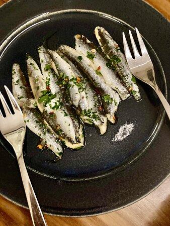 White anchovies