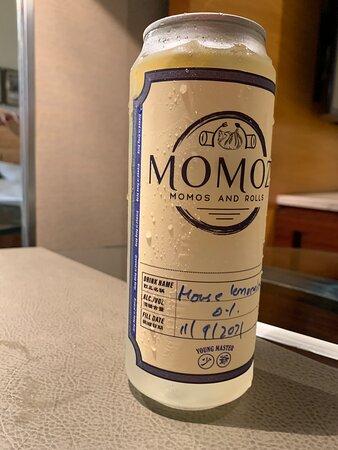 Homemade lemonade drink from Momoz