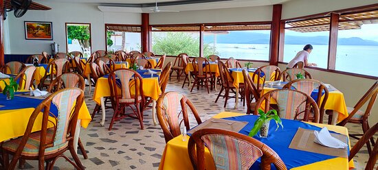 Restaurant inside resort
