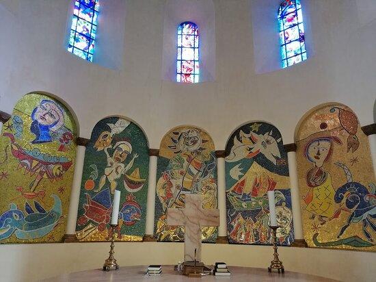 Art work by Danish painter. CarlHenning Pedersen. inside the cathedral.