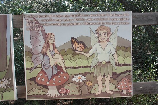 Uno de los carteles que te ambientan en el objetivo del parque