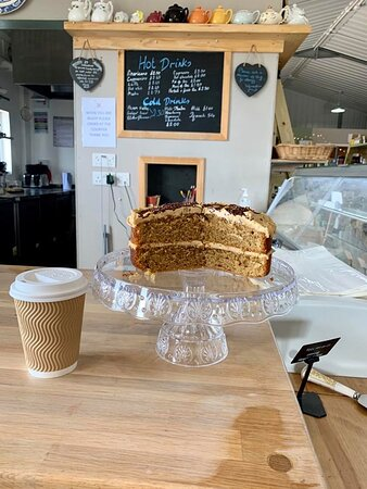 coffee and cake from the deli