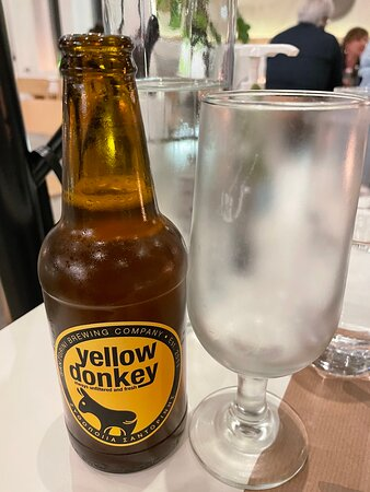 Typical Santorinian beer