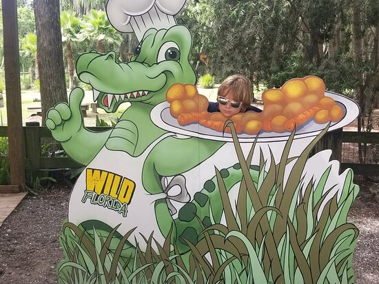 Private Airboat Tour with Alligator Encounter and Transport: Posing at the Wild Florida Quick-Pic spot, just before our Airboat ride!