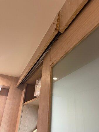 Parte de arriba del armario